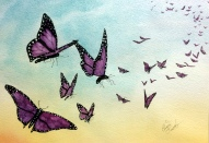 Freedom - Unframed Watercolour - $40