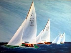 Racing Yachts - Acrylic - $200