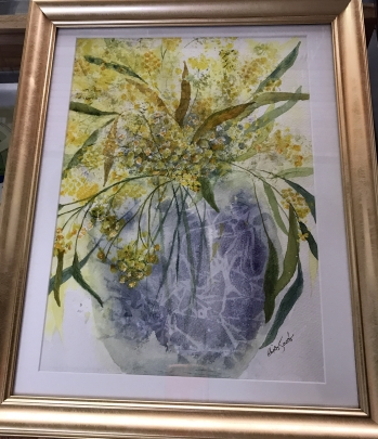 Wattle - Framed Watercolour $140