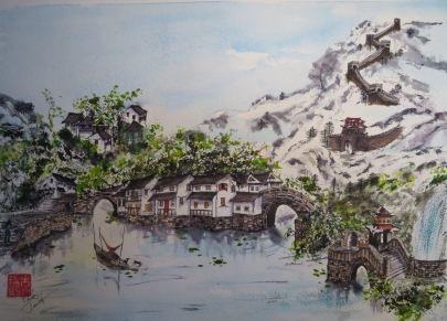 Winter in China - SOLD