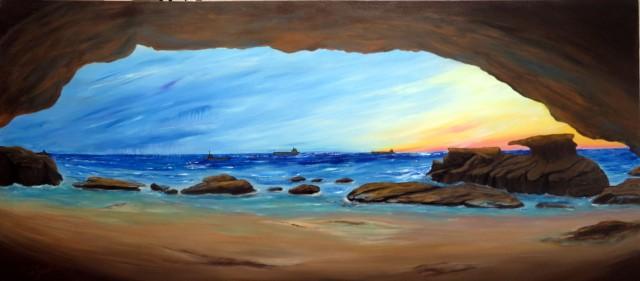 Main cave caves beach - blue