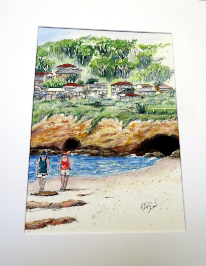 caves beach pen & wash